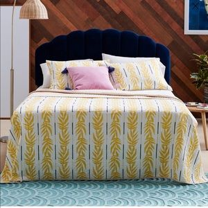 Flower Home Vintage Palm Queen Quilt Set